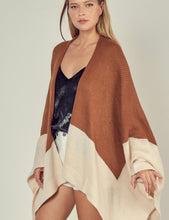 Load image into Gallery viewer, Two tone Poncho Cardigan