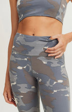 Load image into Gallery viewer, Blue Camo High Waist Leggings