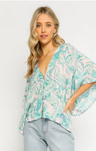 Load image into Gallery viewer, Pink Dawn Tropical Button Up Top