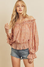 Load image into Gallery viewer, Paisley Off the Shoulder Top