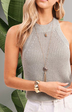 Load image into Gallery viewer, Knit Halter Tank - Seafoam