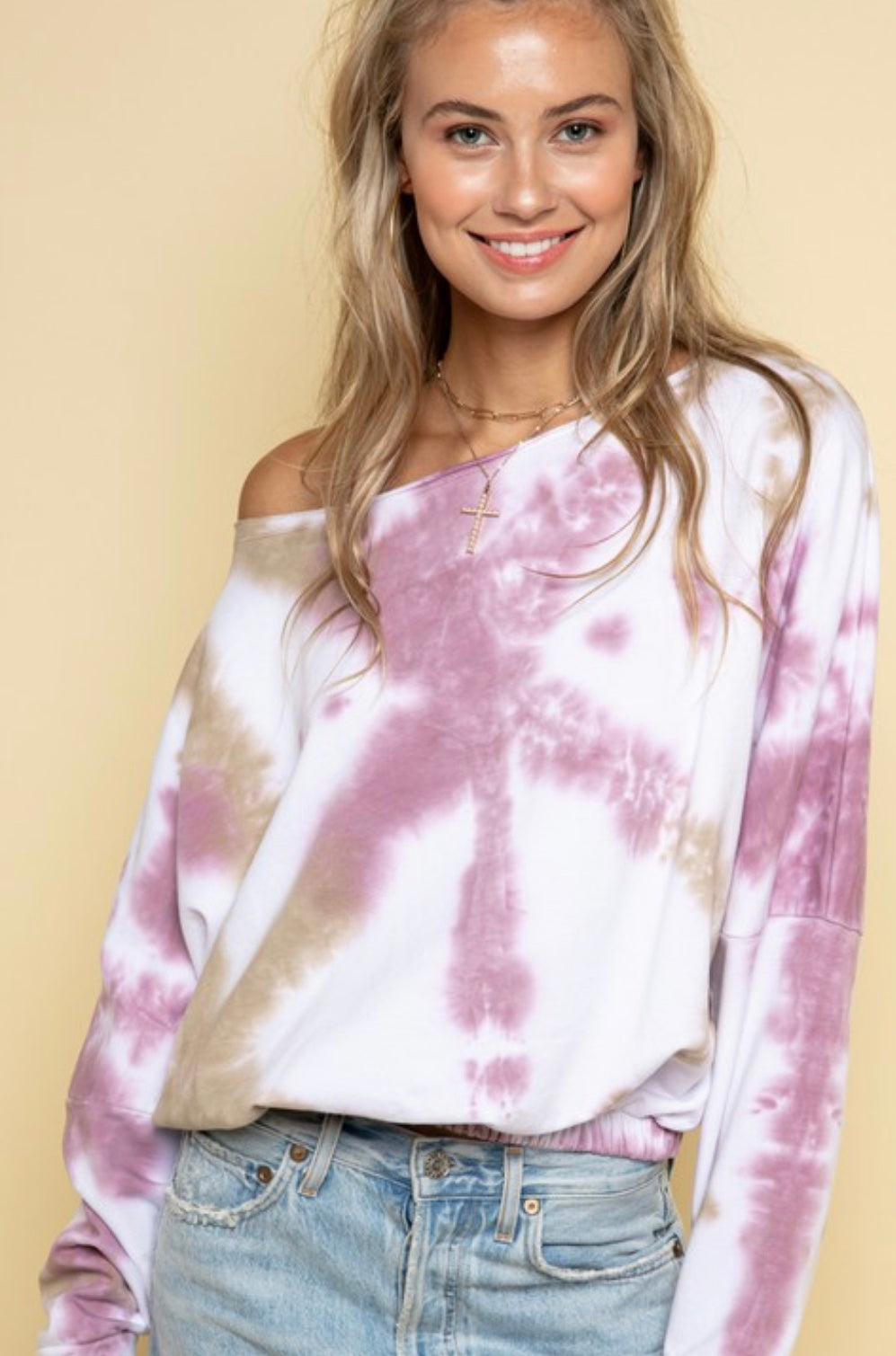LA Tie Dye Off the Shoulder Top