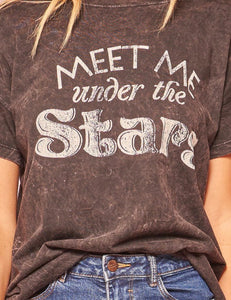 Meet Me Under the Stars Vintage Washed Tee