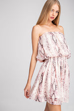 Load image into Gallery viewer, Pink Snakeskin smocked dress