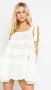 Gauze Ruffled Dress