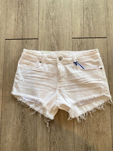Jean Shorts - Pixie Low Rise Close Ties (White)