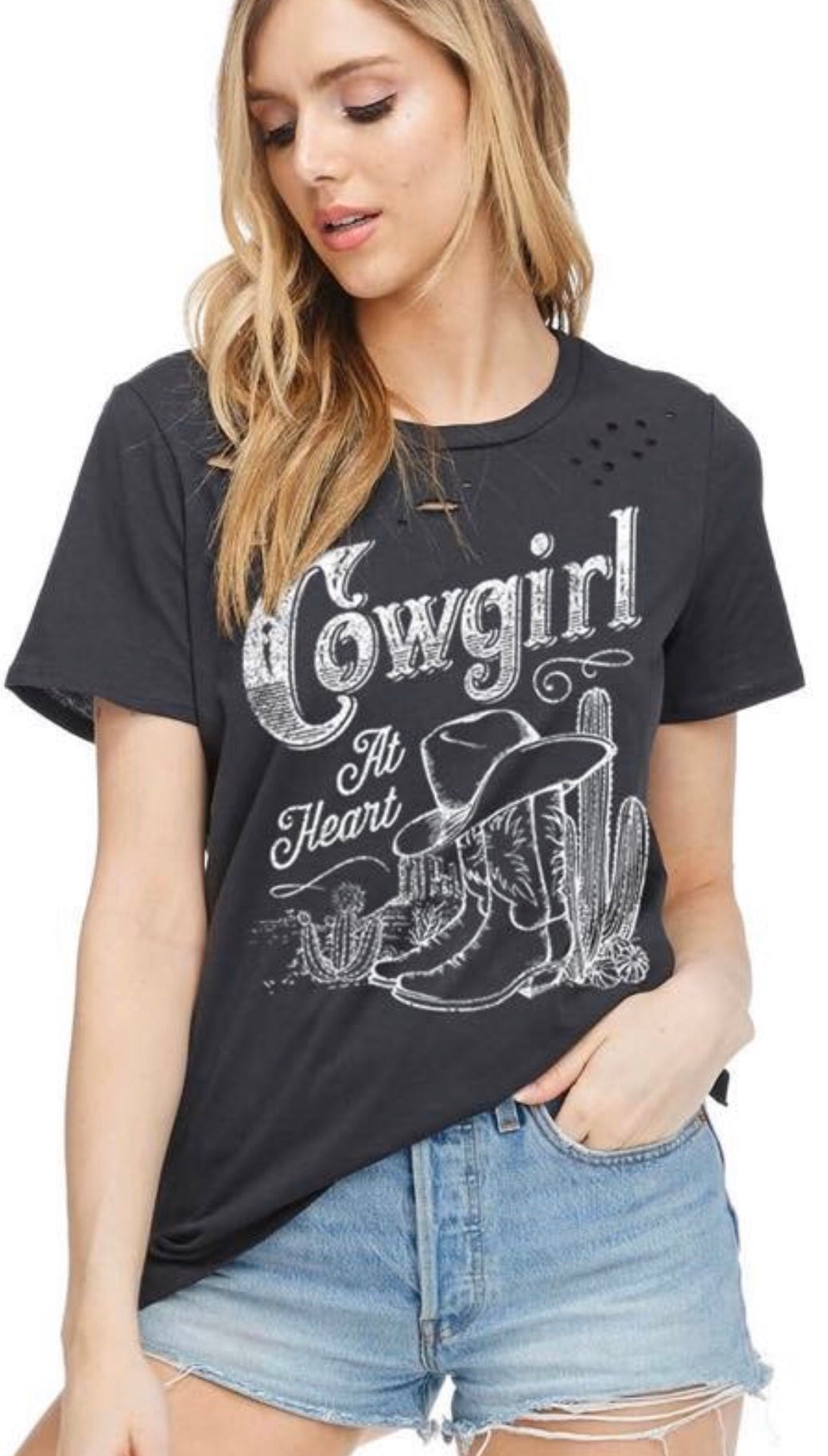 Distressed Cowgirl Shirt