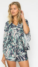 Load image into Gallery viewer, Tropical Dolman sleeve Romper