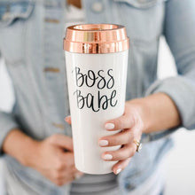 Load image into Gallery viewer, Travel Mug - Boss Babe