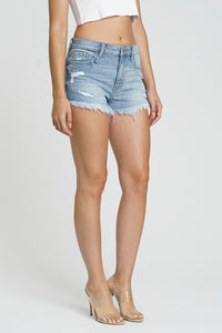 Jean Shorts - Lulu High Rise Favored Light