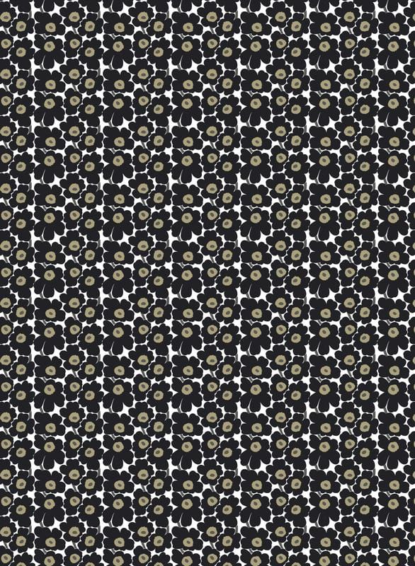 Marimekko Mini Unikko Black Fabric - Nordic Labels