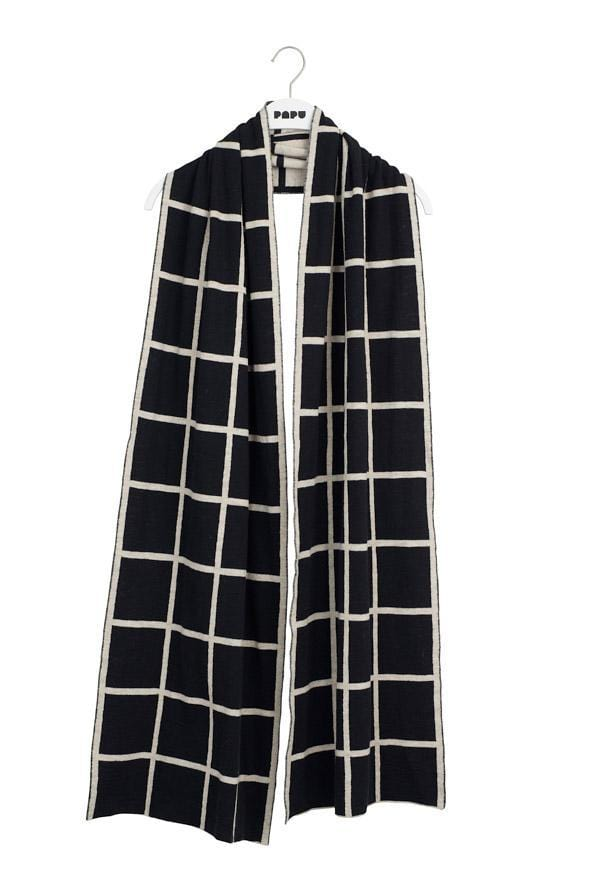 Papu Adult Giant Grid Cosy Scarf - Nordic Labels