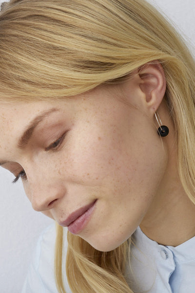 Aarikka Kehrä Black Earrings - Nordic Labels