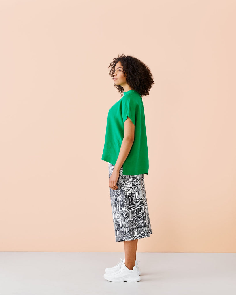 Papu Sound Waves Linen Culottes - Nordic Labels