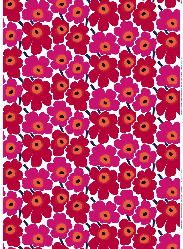 Marimekko Pieni Unikko Red Fabric - Nordic Labels