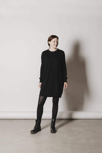 Aarre Merino Wool Tunic Black - Nordic Labels