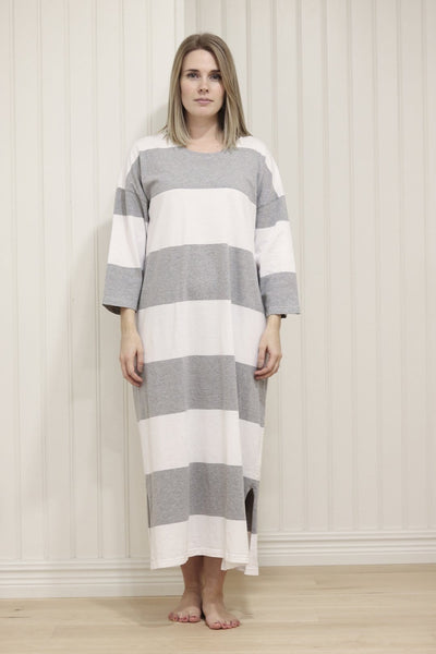 Ratia Adora Gown Grey/White - Nordic Labels