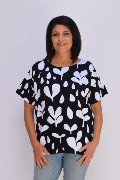 Ratia Betty Shirt Black/White - Nordic Labels