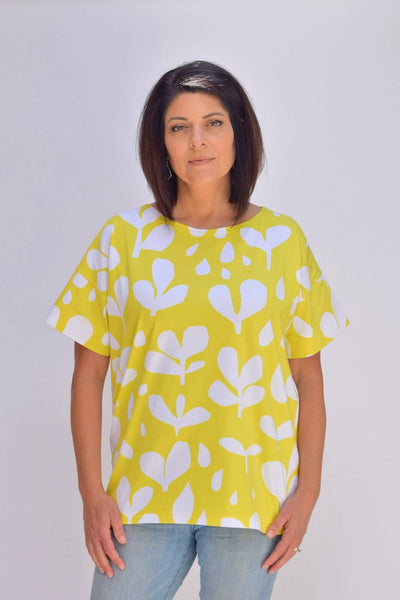 Ratia Betty Shirt Yellow/White - Nordic Labels
