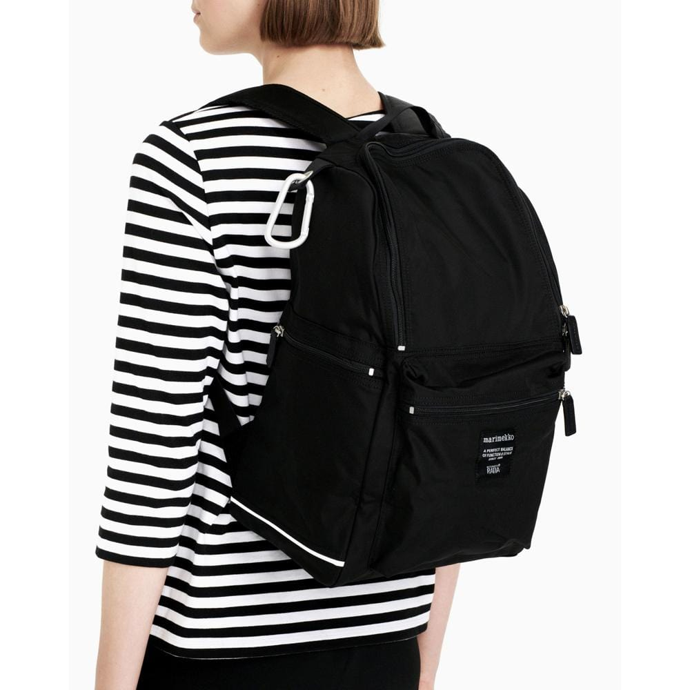 Marimekko Buddy Backbag Black - Nordic Labels