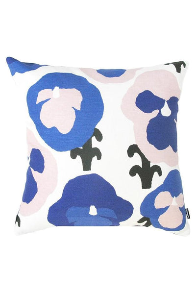 "Kauniste Finland Orvokki Blue Pillow Cover 20""x 20"" - Nordic Labels"