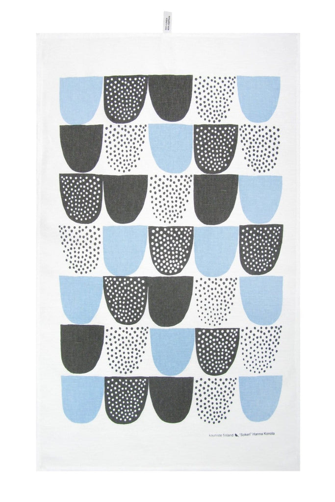 Kauniste Finland Sokeri Blue Tea Towel - Nordic Labels