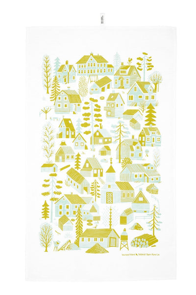Kauniste Finland Mokkila Yellow Tea Towel - Nordic Labels
