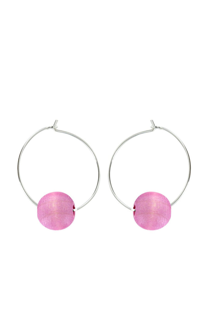 Aarikka Kehrä Lilac Red Earrings - Nordic Labels