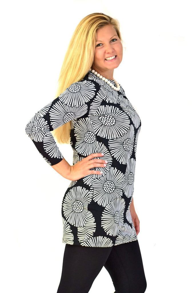 Ratia Leskenlehti Sumu Tunic Black/White - Nordic Labels