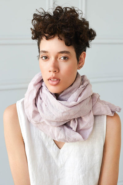 Linen Scarf Dusty Rose - Nordic Labels