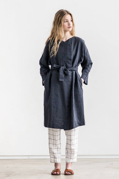 Linen Amsterdam Wrap Coat - Nordic Labels