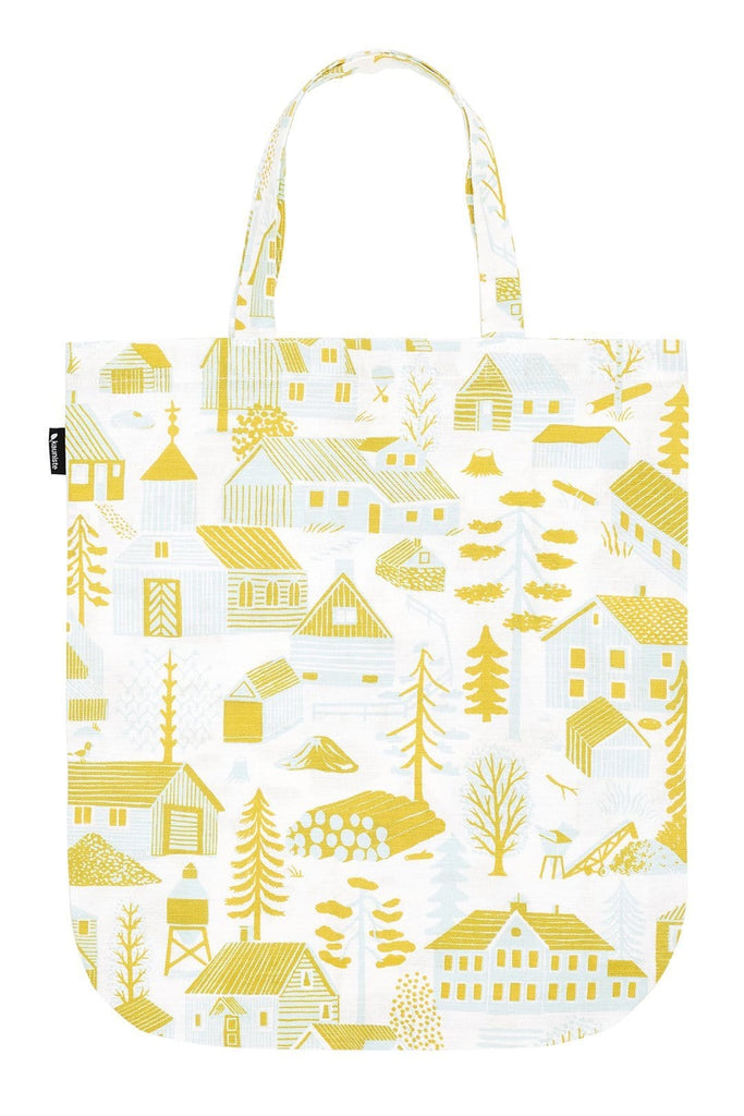 Kauniste Finland Mökkilä Yellow Tote Bag - Nordic Labels