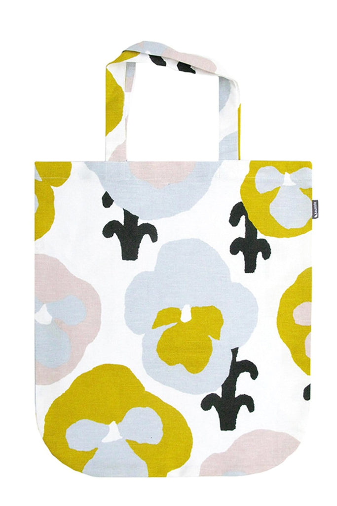 Kauniste Finland Orvokki Yellow Tote Bag - Nordic Labels