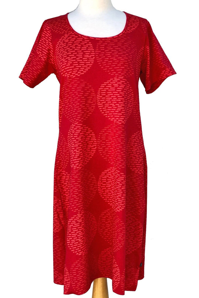 Ratia Pensseli Short Sleeve Gown Red - Nordic Labels