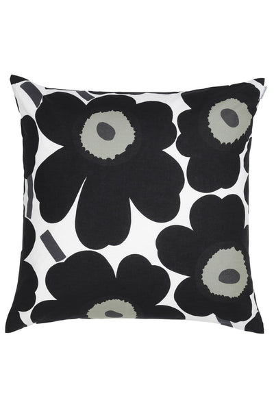 Marimekko Pieni Unikko Cushion Cover Black - Nordic Labels