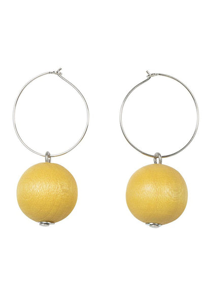 Aarikka Polte Yellow Earrings - Nordic Labels