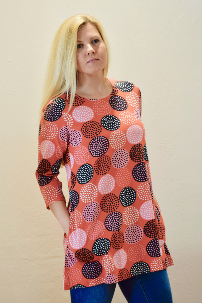 Ratia Pisara Tunic Lumipallo Orange - Nordic Labels