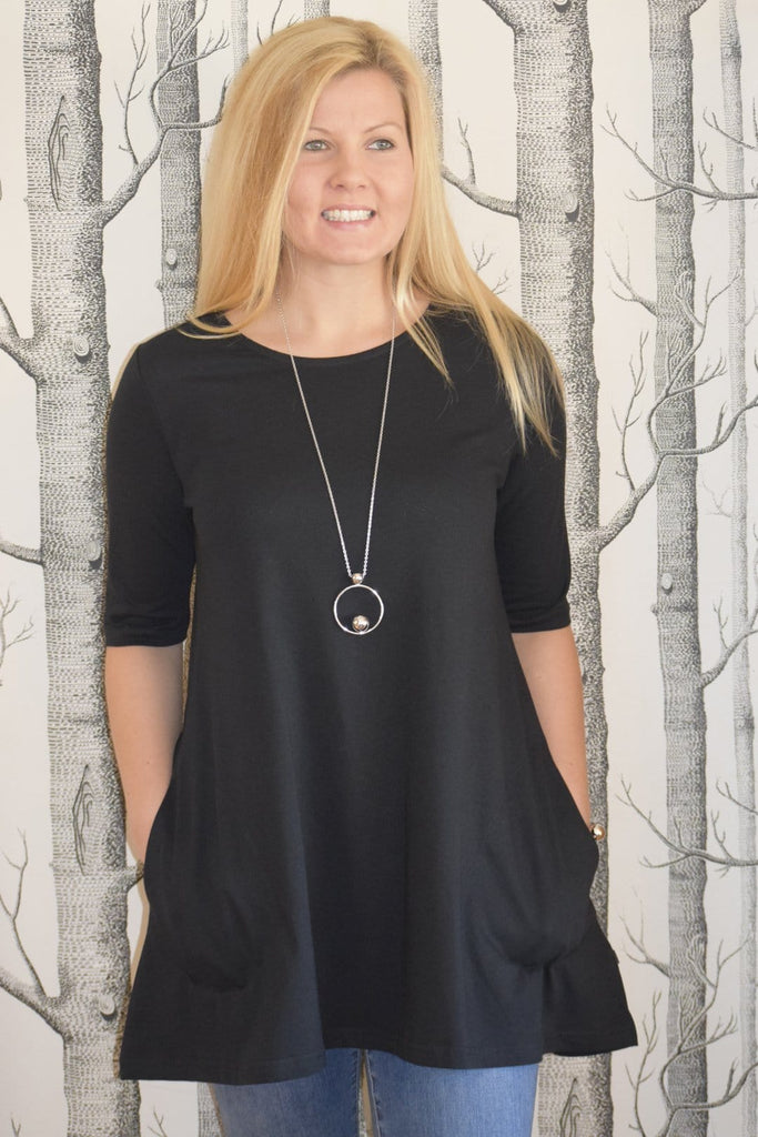 Ratia Pocket Tunic Black - Nordic Labels