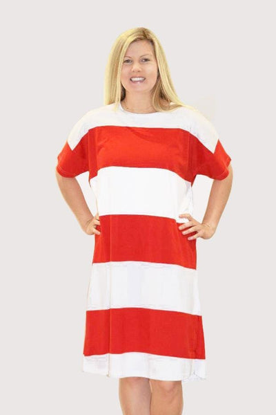 Ratia Adina Gown Red/White - Nordic Labels
