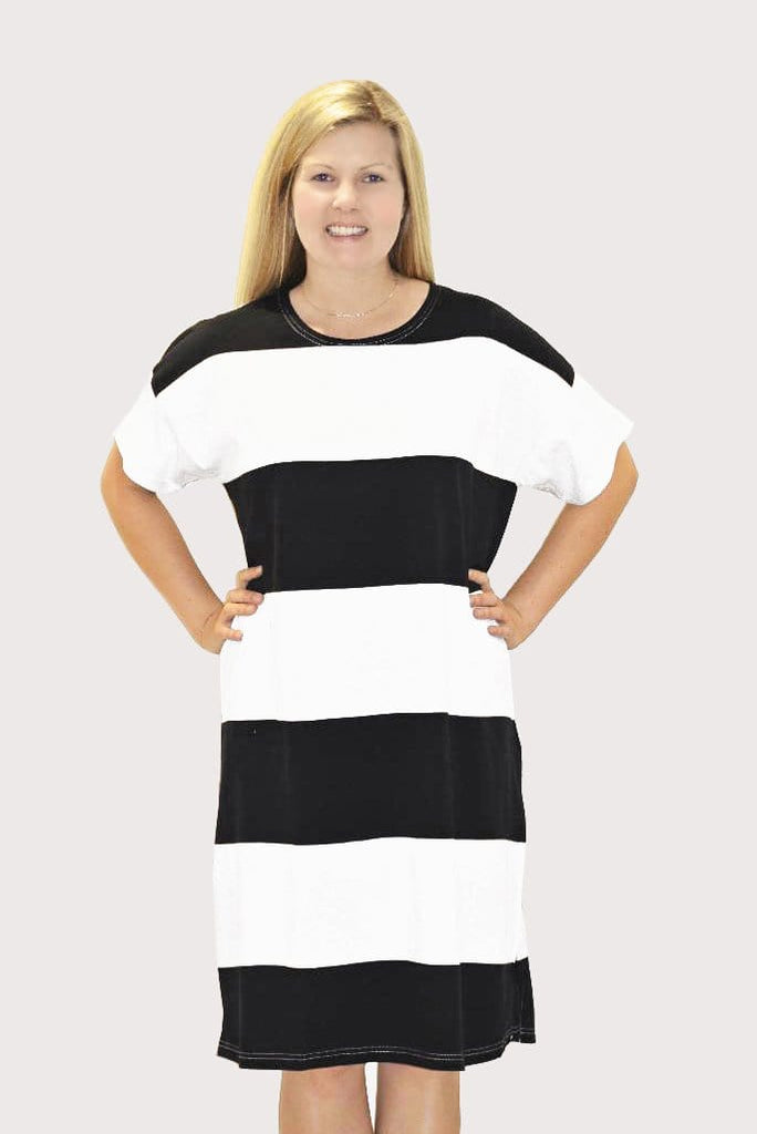 Ratia Adina Gown Black/White - Nordic Labels