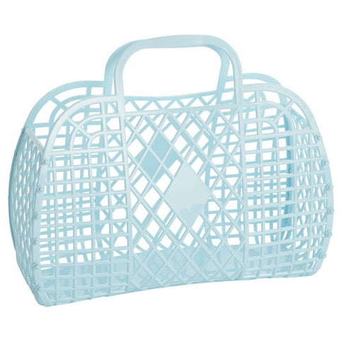 Sunjellies Retro Basket Blue - Large