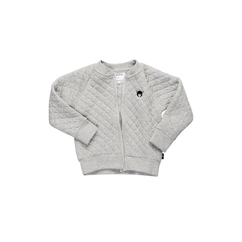 Huxbaby Grey Marle Stitch Sweat Jacket