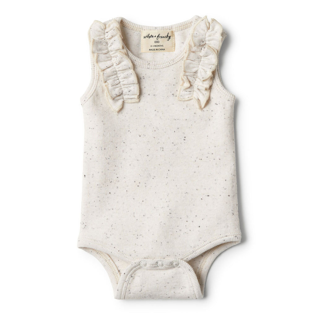 wilson And Frenchy Bodysuit With Ruffle | Fleck