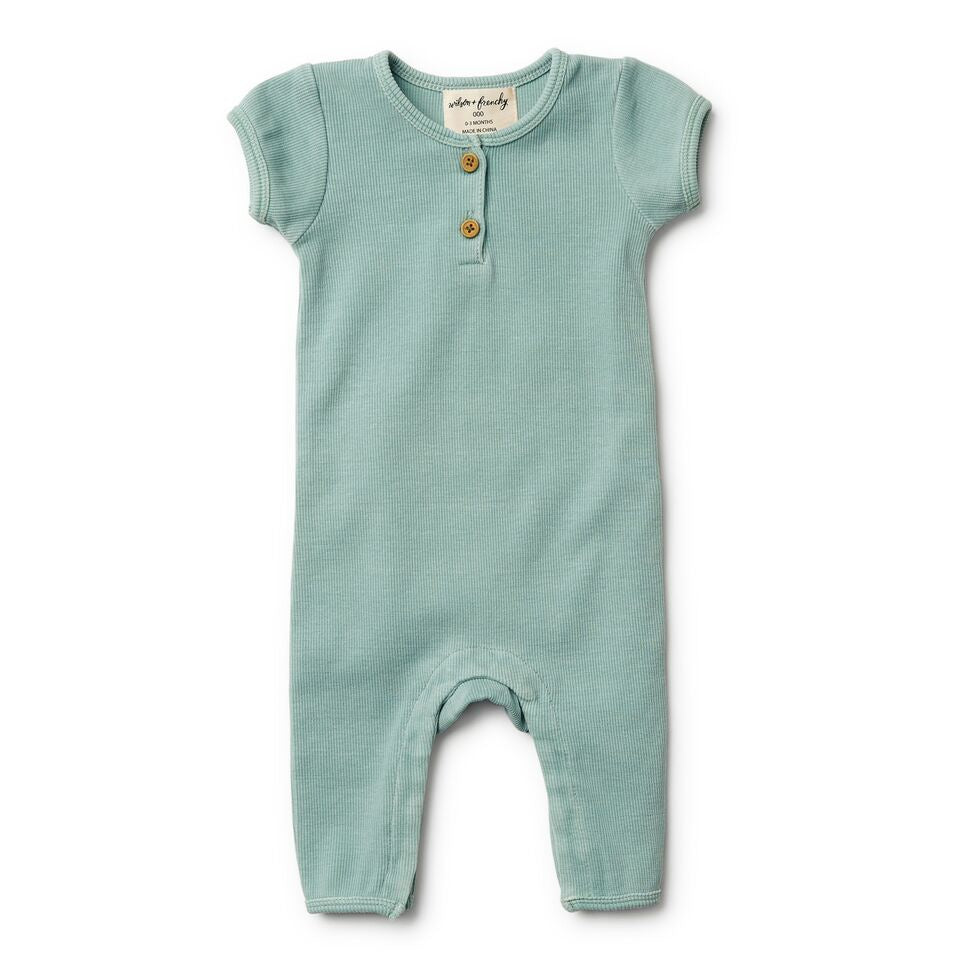 Wilson And Frenchy Rib Growsuit | Sage