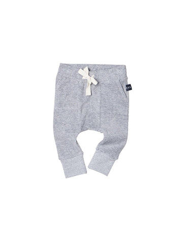 Huxbaby Pocket Drop Crotch Pants | Grey Marle