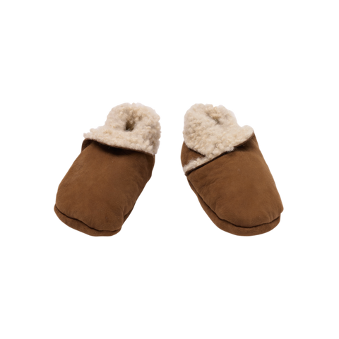 Nature Baby Lambskin Booties / Cinnamon