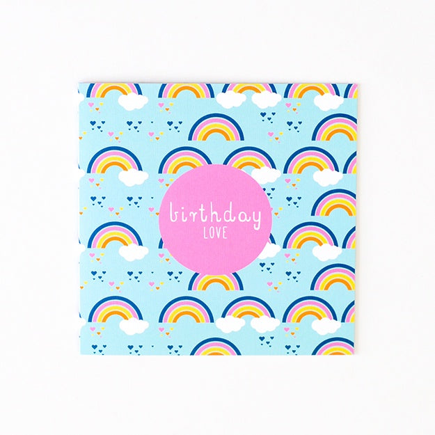 Two Little Ducklings | Rainbow Birthday Card