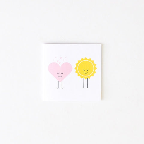 Two Little Ducklings | Small Heart Sun Card