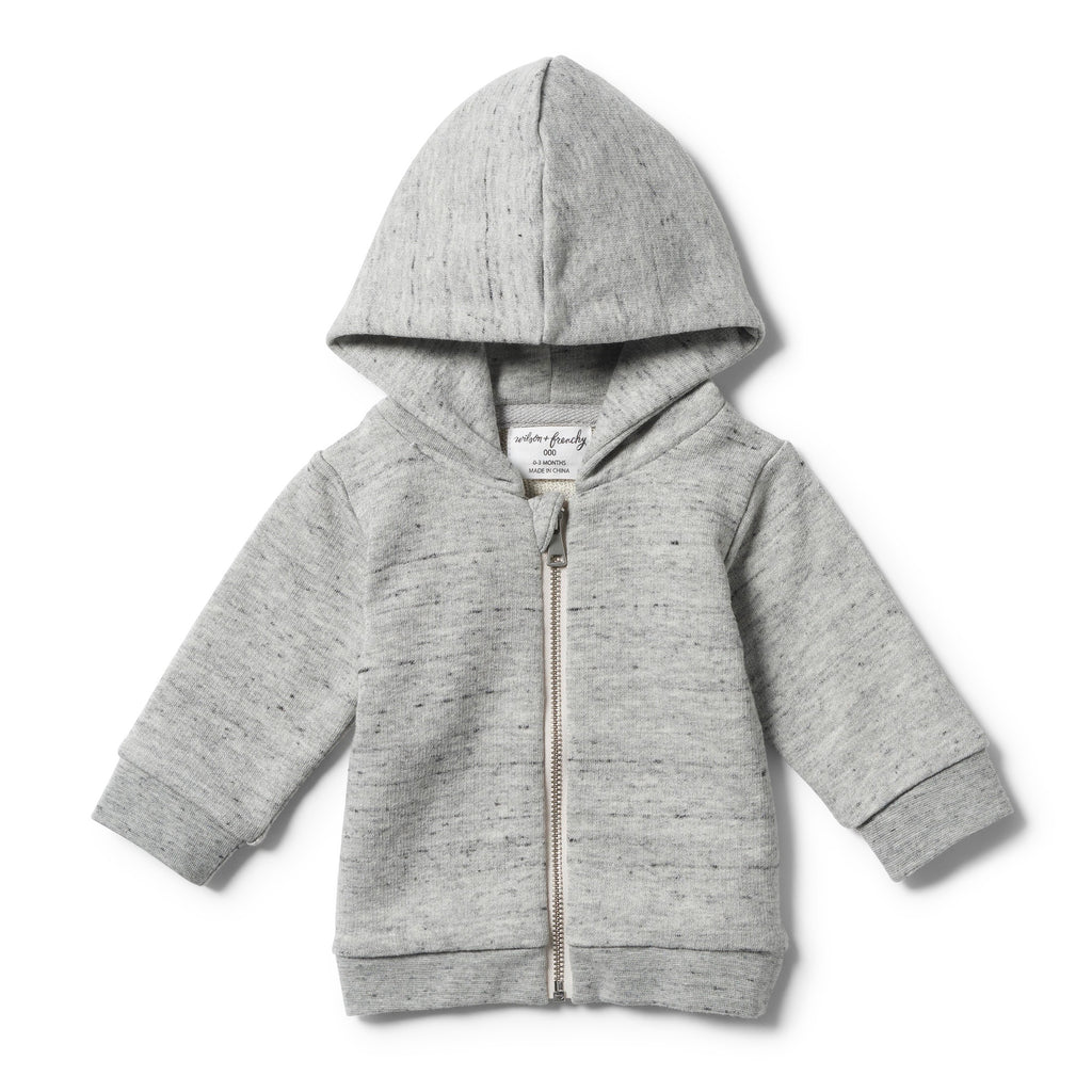 Wilson And Frenchy Grey Fleck Hooded Jacket With Zip