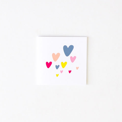 Two Little Ducklings | Small Love Heart Card